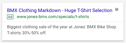 AdWords Text Ad Example