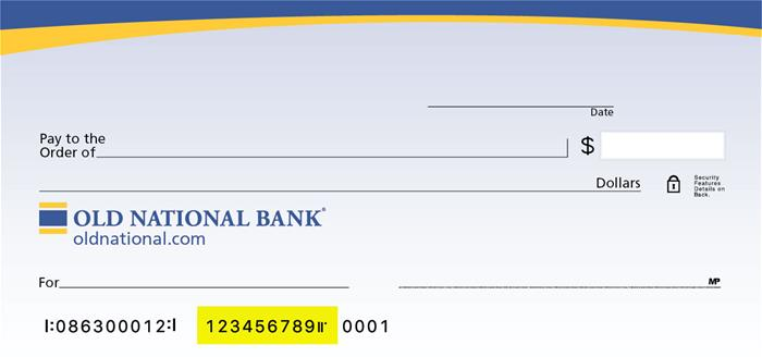 ONB Check Account Number