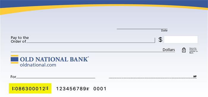 ONB Check Routing Number