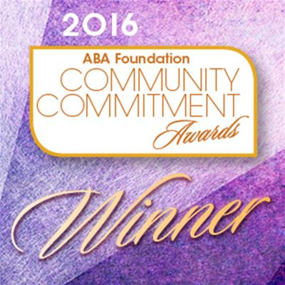 ABA Community Commitment Award 2016