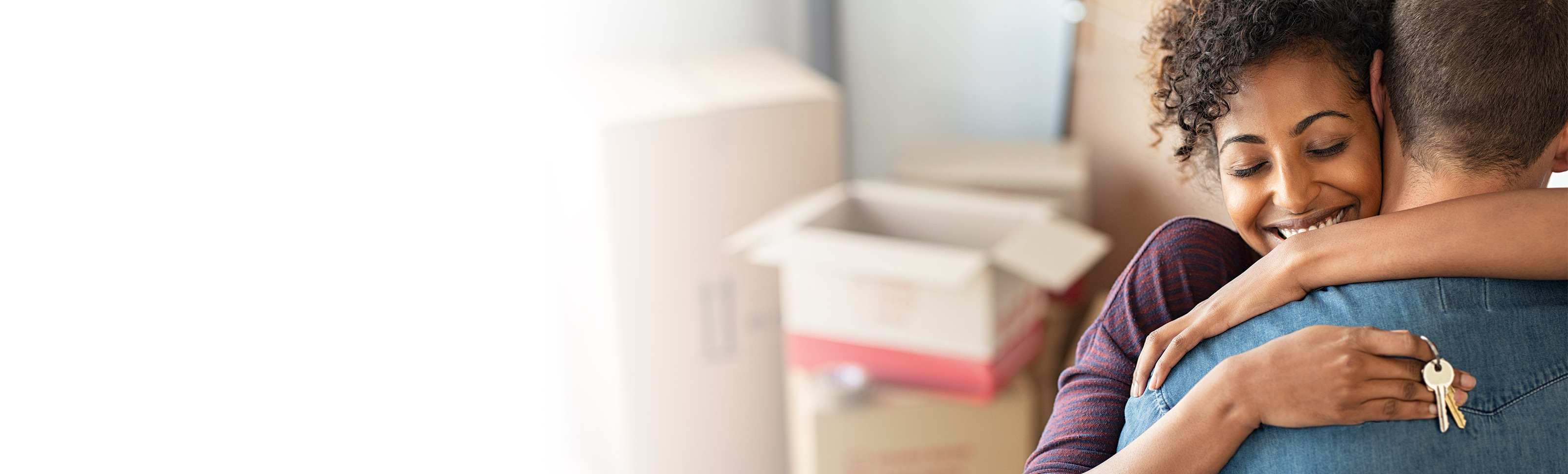 Person getting keys to home